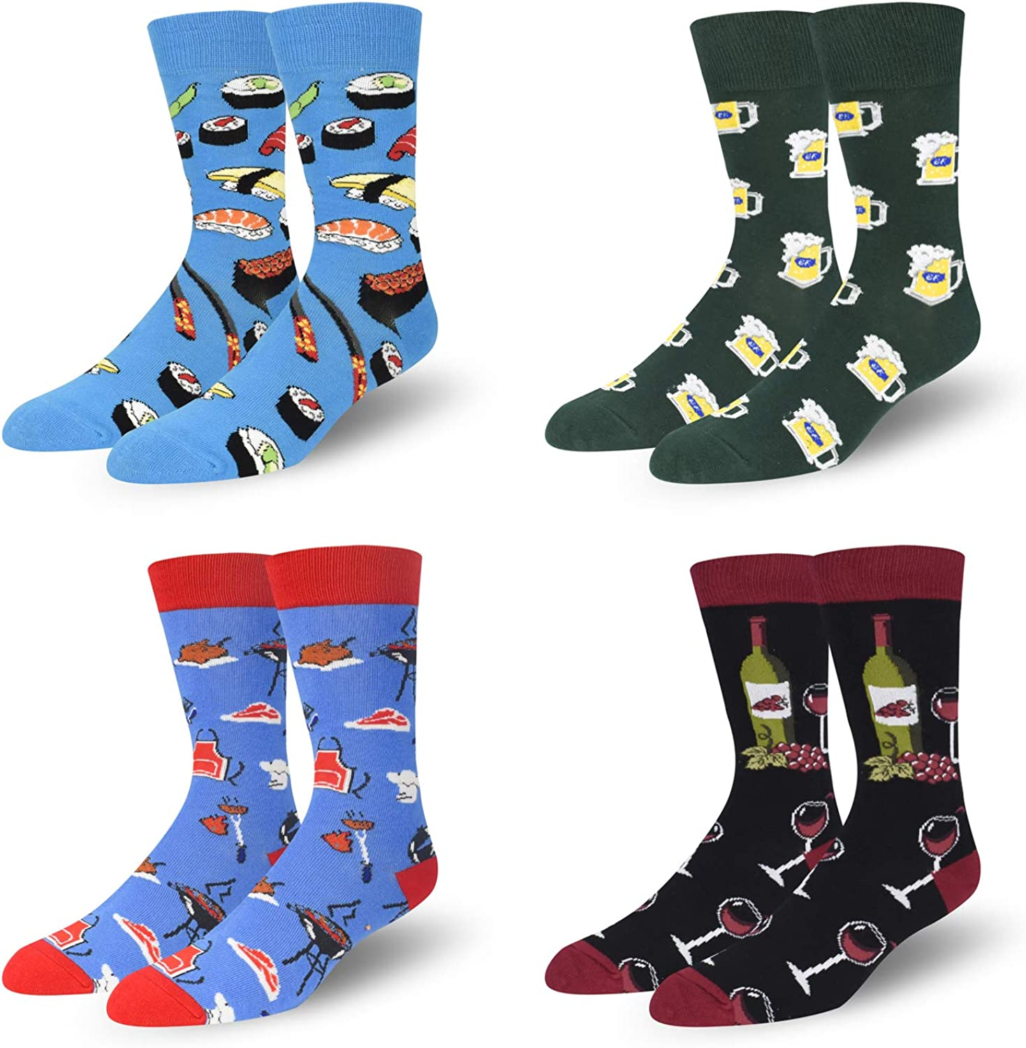 Seorsok Novelty Socks Colorful Funny Mens Crew Socks Outer Space Casual Cotton Socks