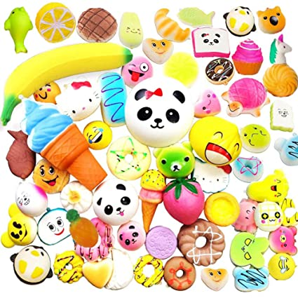 Mobile Phone Accessories Mobile Phone Straps Fun Kid Toy Xmas Cartoon Cake Bun Jumbo 10cm Cute Emoji Colorful Face Panda Squishy Bread Slow Rising Excellent Quality