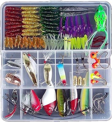 Señuelos de pesca, cebo blando trucha, salmón + caja. 100 cebos artificiales. Cebos de plástico blando.: Amazon.es: Deportes y aire libre