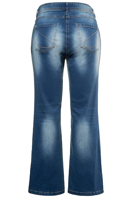 d1b79654697 Ulla Popken Women s Plus Size Bleach Wash Marlene Jeans 715040  Ulla Popken   Amazon.co.uk  Clothing
