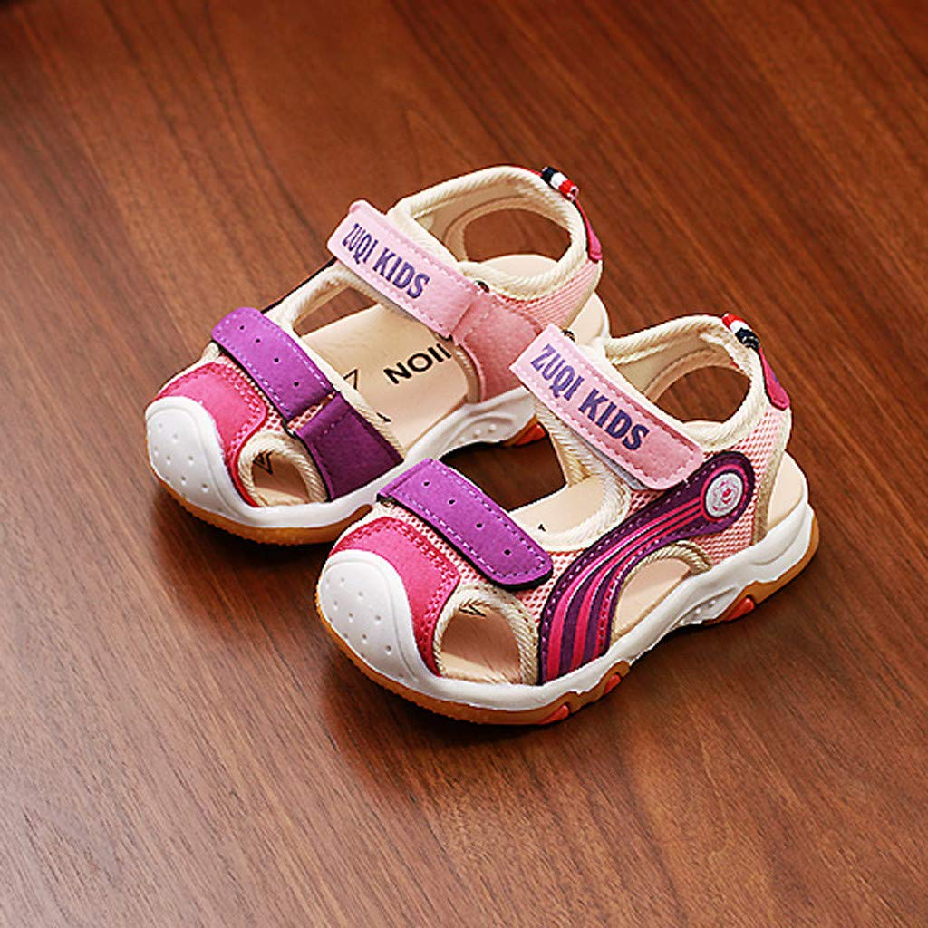 Toddler//Little Kid//Big Kid Xturfuo Boys and Girls Breathable Athletic Sandals Summer Outdoor Beach Sports Closed-Toe Sandals