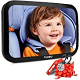 TWOBIU Baby Car Mirror for Rear View Car Seat with Crash Tested and Certified for Safety