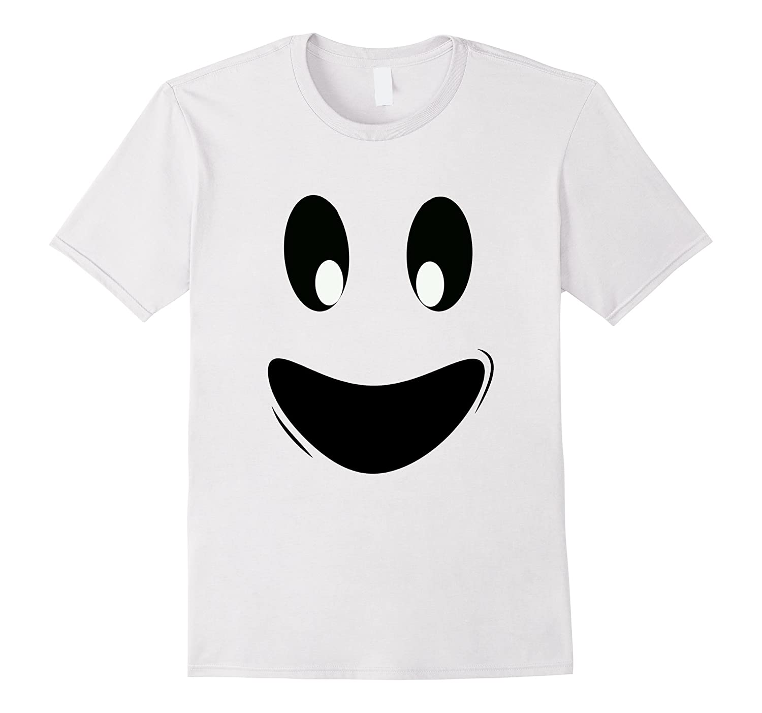 Fun Ghoul Face Ghost Tee Shirt Costume for Kids and Adults-FL