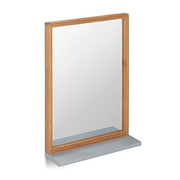 Relaxdays Wandspiegel Mit Ablage Spiegel Zum Aufhängen Badspiegel