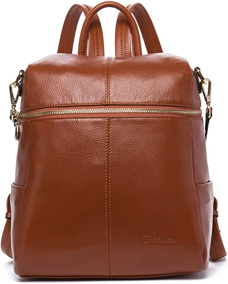 BOSTANTEN Genuine Leather Fashion Backpack Purse Casual School Bags for Women