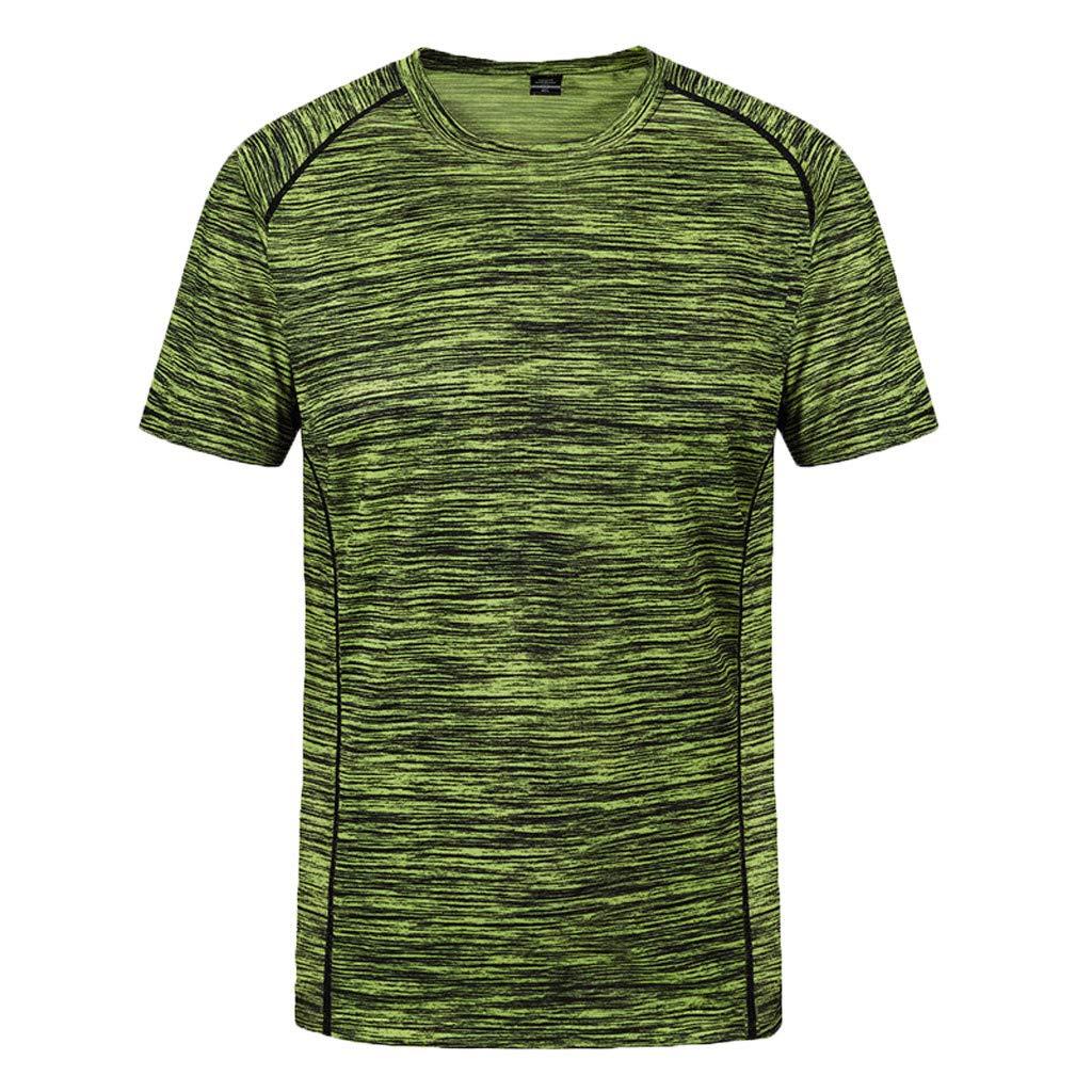 Camisetas Hombre Verano,Lunule Camiseta Deporte Hombre Manga Corta Cuello Redondo Suelto Tops Deportivos Fitness Blusa Top de Seca rapida para Hombre Casual