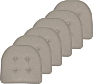 Sweet Home Collection Chair Cushion Memory Foam Pads Tufted Slip Non Skid Rubber Back U-Shaped 17