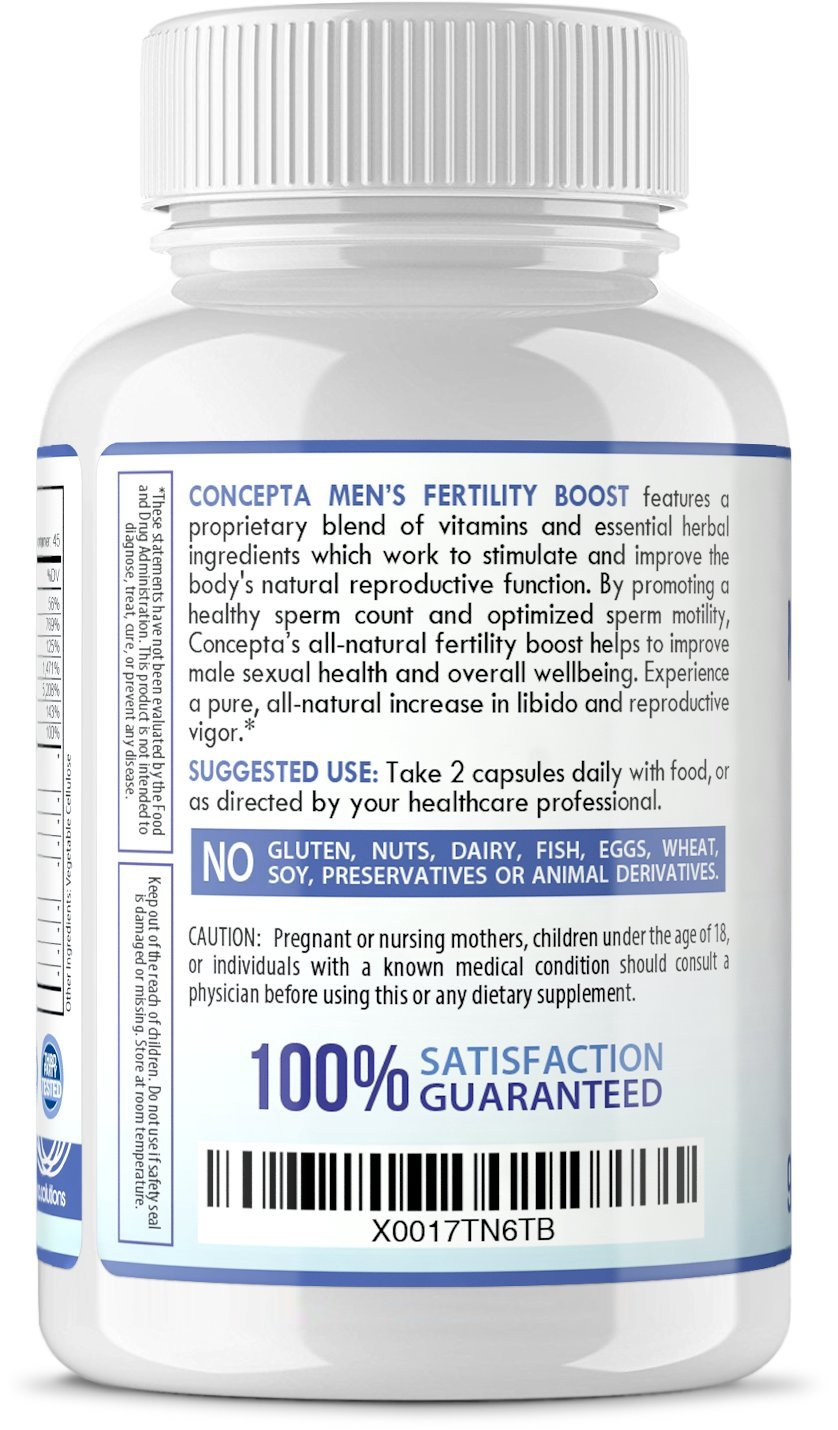 Amazon.com: Men's Fertility Booster Motility Increase - Support for  Optimized Sperm Count, Increase Motility, Vitality, Men's Reproductive  Health Wellness ...