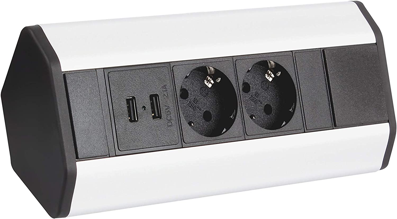 Möbel Steckdosen 17x USB Küchen Steckdose ecksteckdose küche  unterbausteckdose aufbausteckdose DLU-17
