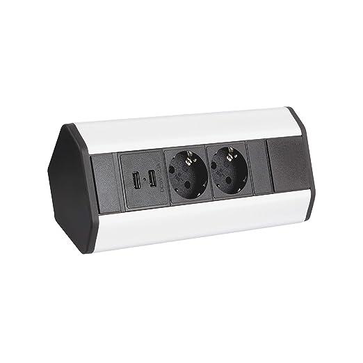 Multipresa per mobili, con 2 uscite USB, adatta alla cucina ...