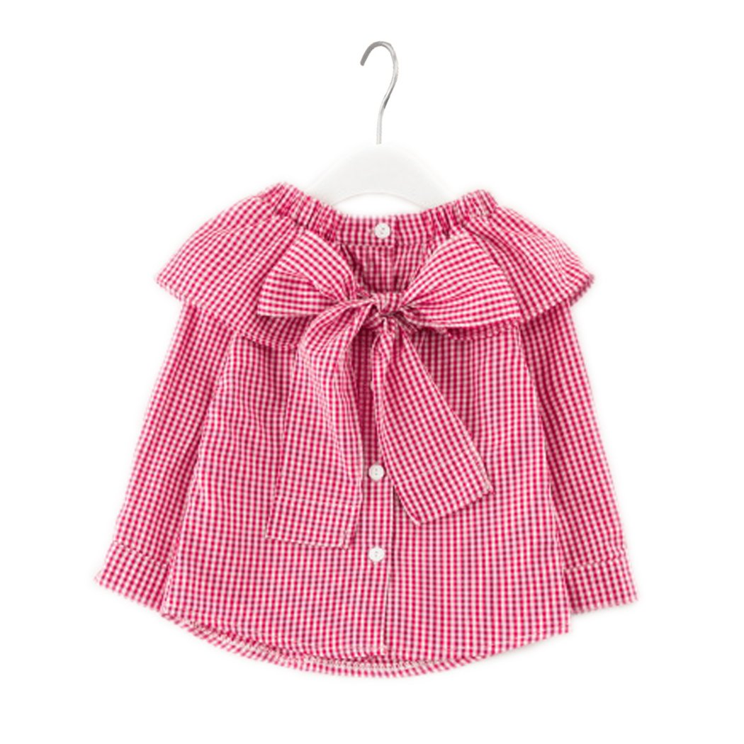 Colorful Childhood Little Girls Plaid Blouse Kids Long Sleeve Peter Pan Collar Shirt Spring Autumn Tops KT7A290