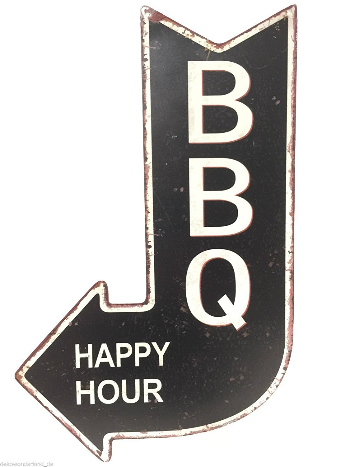 Cartel de chapa decorativa, Cartel BBQ Happy Hour barbacoas ...