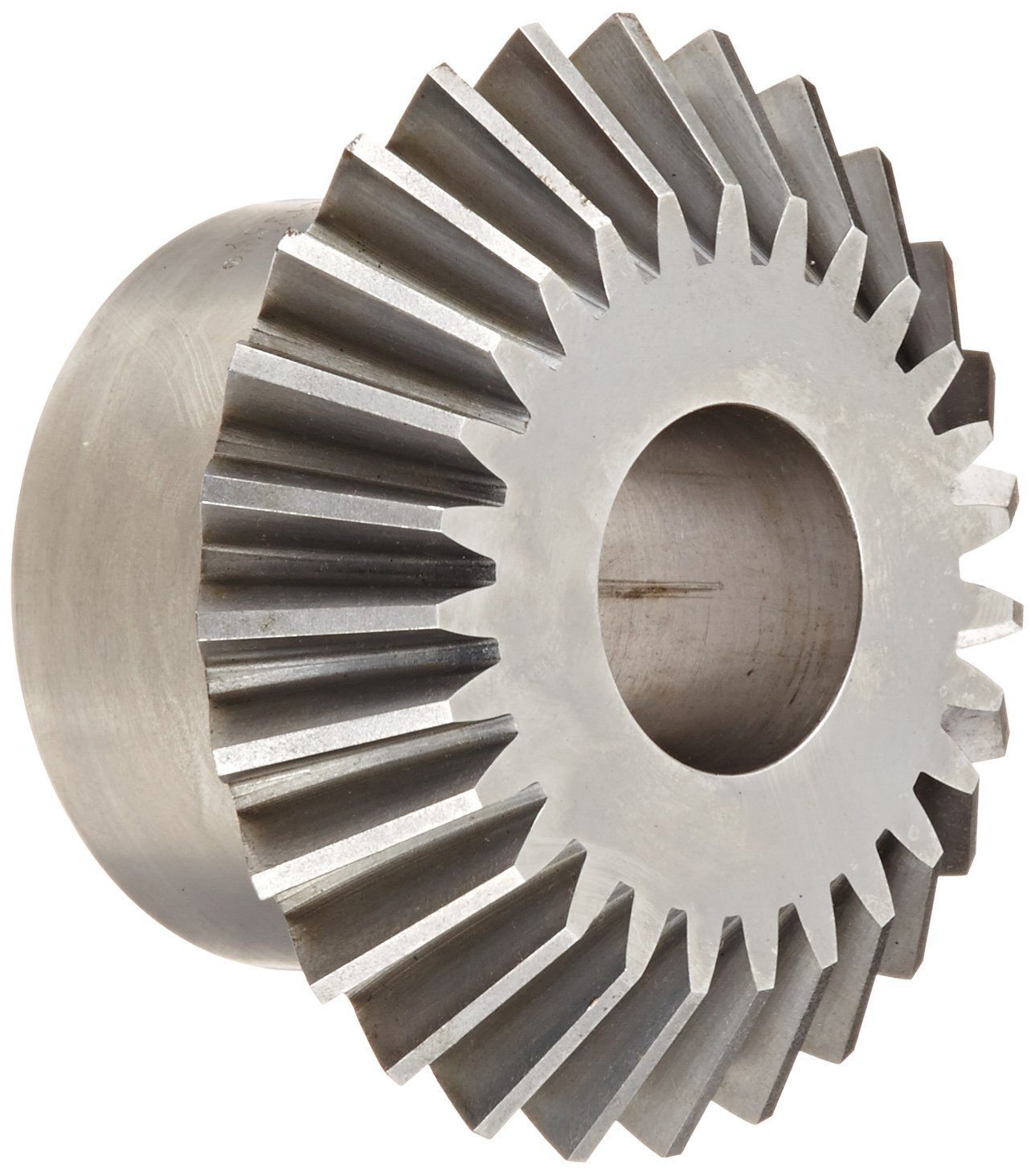 Boston Gear L Series Miter Gear, 1:1 Ratio, 20 Degree Pressure Angle, Straight Miter, Plain Bore, Steel