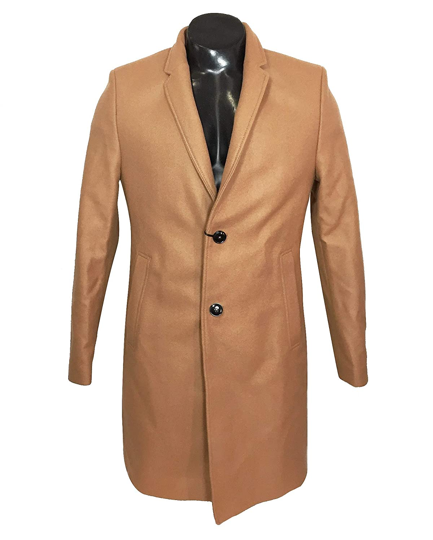 7f5ba3e2 Zara Men's Lapel Collar Coat 0706/380 Brown: Amazon.co.uk: Clothing