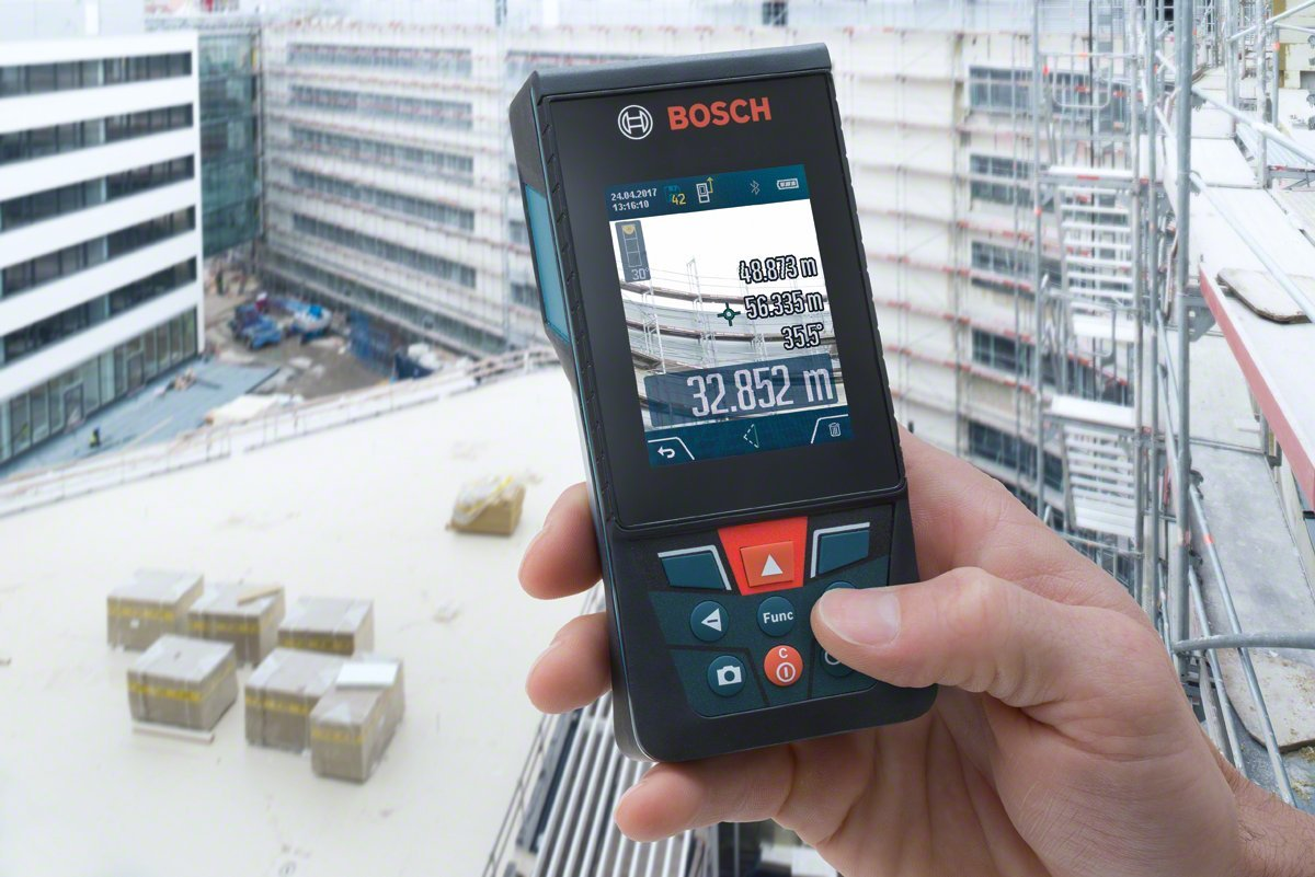 Entfernungsmesser Für Jogger : Bosch professional laser entfernungsmesser glm 120 c mit stativ bt
