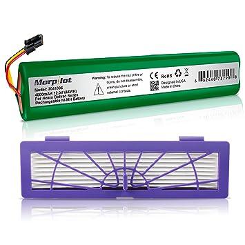 morpilot Batería Neato NiMh 4000mAh con Filtro HEPA para Neato Botvac y Botvac Serie D, Botvac 70e, 75, 80, 85, Aspiradora 945-0129 945-0174: Amazon.es: ...