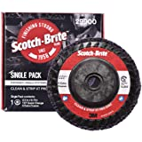 """Scotch-Brite Clean and Strip XT Pro Disc - Rust and Paint Stripping Disc - 4.5"""" diam. x 5/8-11 Quick Change Thread - Extra Co"""