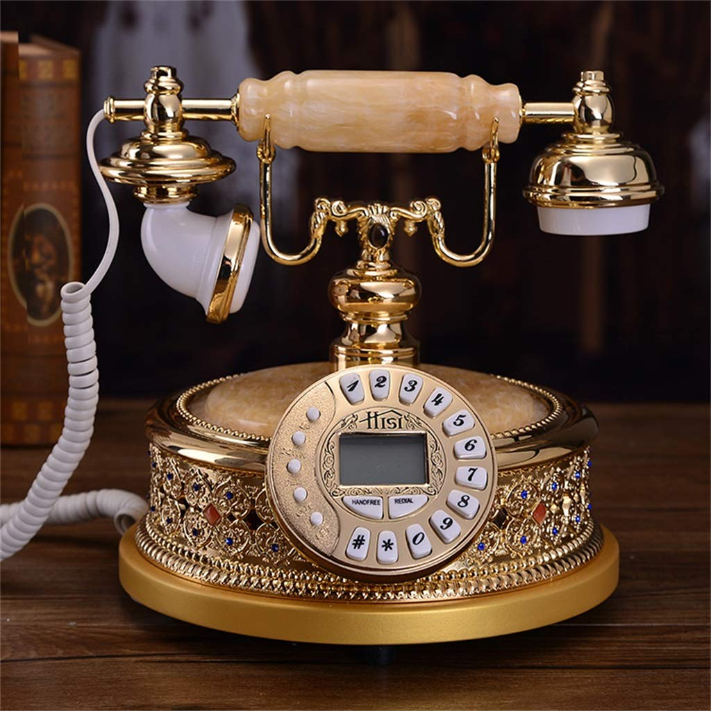 JGBHPNYX Retro Mobile Phone/Rotary Dial Telephone/Retro Style Phone/Easy to by JGBHPNYX