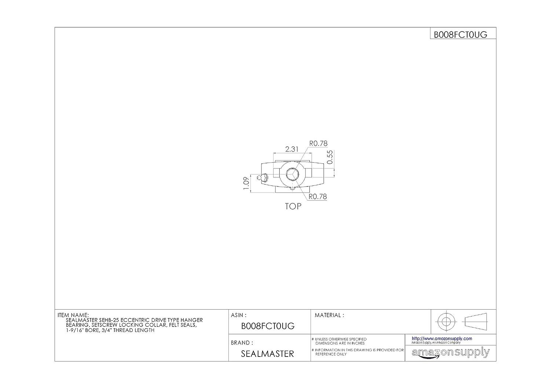2.5 x 8 Plastic Block 2.5 x 8 Plastic Block Tampyl Bristles HUB City Industries 039-200 2.5 Trim