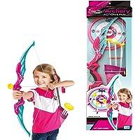 Foxom Arco y Flechas Niños, Set Tiro con Arco con 3 Ventosa Flechas, 1 Arco, 1 Carcaj y 1 Objetivo, Ideal Regalo para Niño 6 Años+