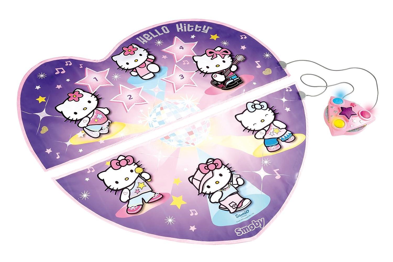 Smoby 27247 Hello Kitty - Alfombra de baile (104 cm de diámetro) tapiz