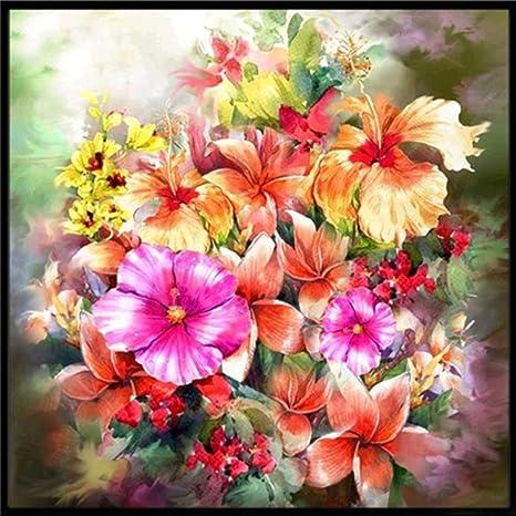 5D DIY Diamond Embroidery Painting Flower Cross Stitch Home Decor Craft New