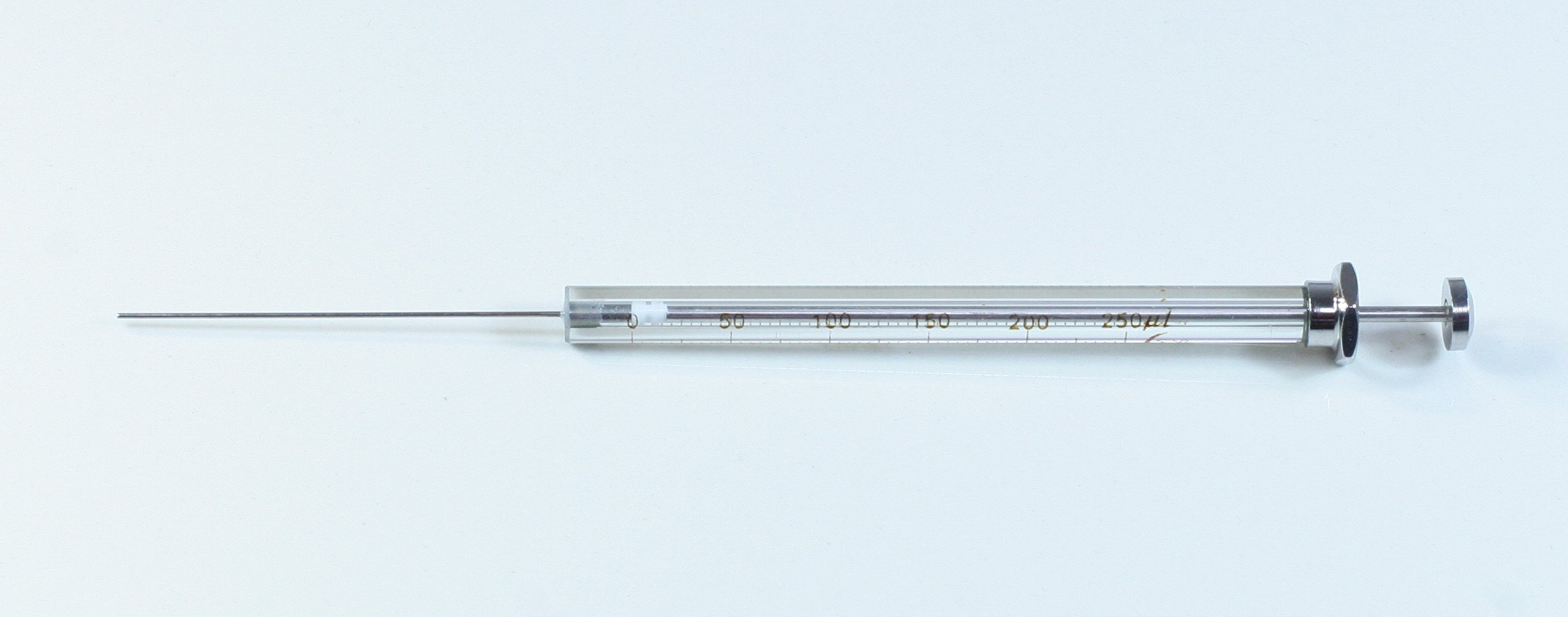 Chromatography Gastight Microliter Syringe, 250 μL, Blunt Tip, Gc, Hplc by Science Outlet