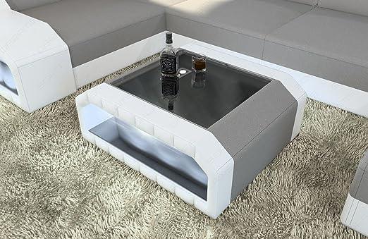 Sofa Dreams Moderno Mesita Baja Matera con Placa de Vidrio: Amazon ...