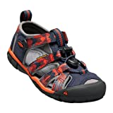 KEEN Unisex-Kid's Seacamp II CNX Sandal, Dress Blues/Spicy Orange, 11 M US Little Kid