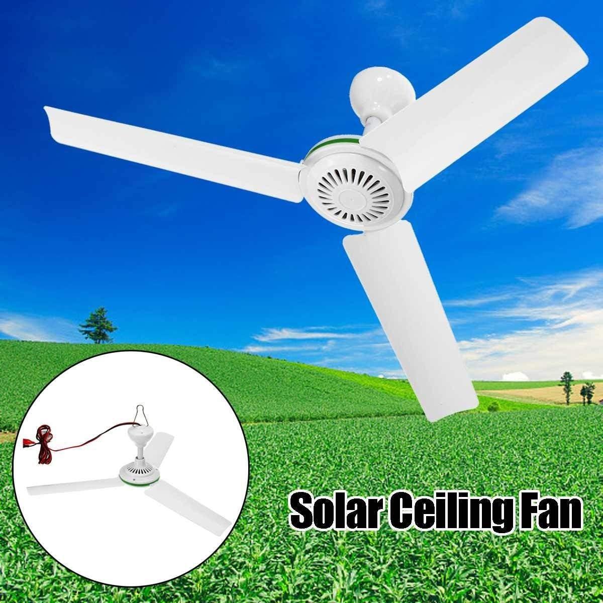 Ventiladores USB 12V 6W Techo Solar respetuosa del Medio Ambiente del Ventilador Alimentado por energía Solar Aficionados Electrodomésticos de refrigeración Aire Acondicionado