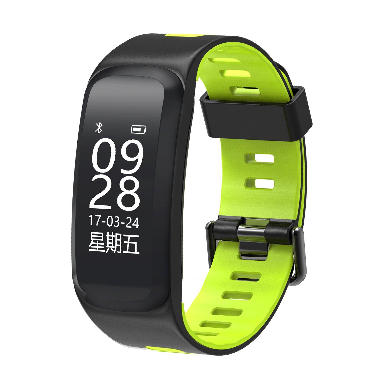 Fitness Tracker Smart Bracelet,YiMiky Smart Bluetooth bracelet Heart Rate Sleep Monitor Adustable Wristband Fitness Activity Tracker Sports Pedometer for Bady,Kids,Men,Women,Girls, Boys(Green)