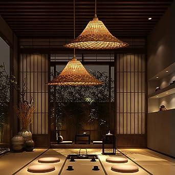 Kreative Persönlichkeit Pendelleuchte Hängelampe Handgemachte Bambus Hüte  Stroh Lampen Für Schlafzimmer Wohnzimmer Gang Loft Esszimmer Balkon