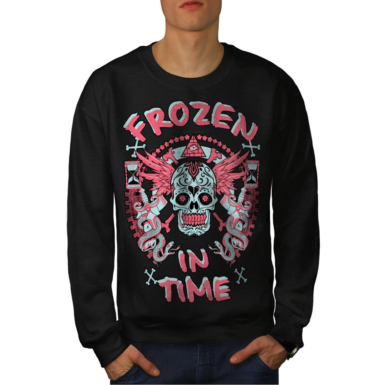Secret Casual Jumper wellcoda Frozen in TIme Dead Mens Sweatshirt