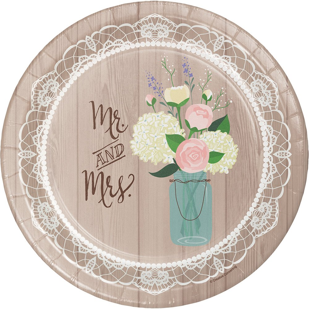 Rustic Wedding 10.25-inch Plates (8 pack) 428706