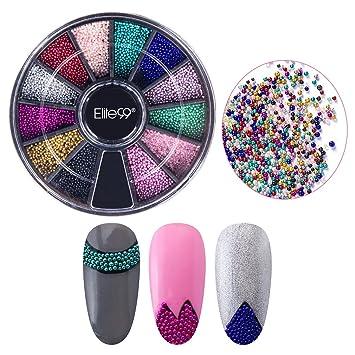 Amazon Elite99 Nail Art Beads Multicolor Resin Caviar Beads