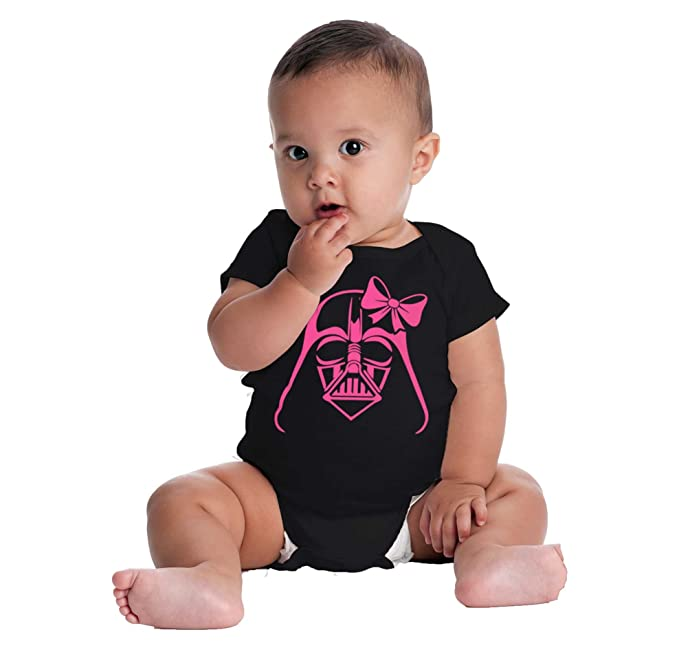 Pink Darth Vader Cute Star Wars Yoda Han Solo Luke Romper Bodysuit