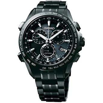 9435cc6ca Seiko Solar Titanium Chronograph GPS Controlled Blue Dial Male Watch SSE009