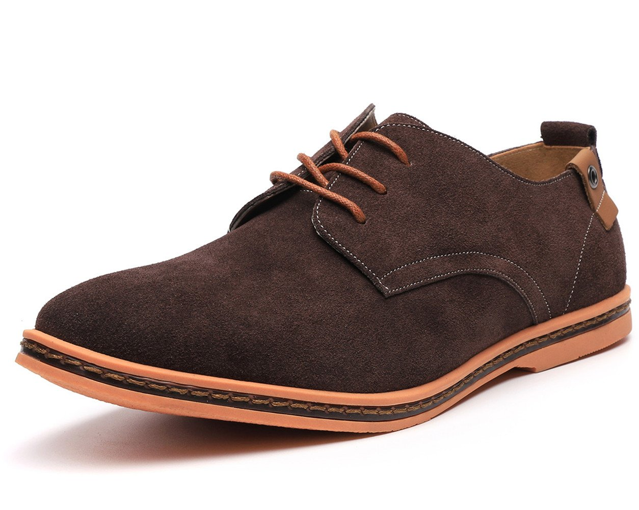 Dadawen Men's Brown Leather Oxford Shoe - 11 D(M) US by DADAWEN (Image #2)