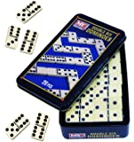 Traditional Games Double Six Dominoes Game - 28PC Double 6 Dominoes Set In A Tin Box