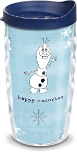 Tervis Disney Frozen 2 Olaf BPA Free Insulated Travel Tumbler with Wrap & Lid, 10 oz Wavy - Tritan, Clear