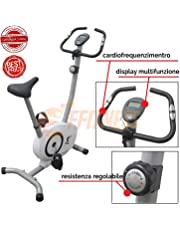FFitness Offerta Cyclette CICLETTE FF-MGT GRIGIOBIANCO Magnetica Home Trainer Bici da Fitness Cardio Fitness Power Home Allenamento Bici da Camera