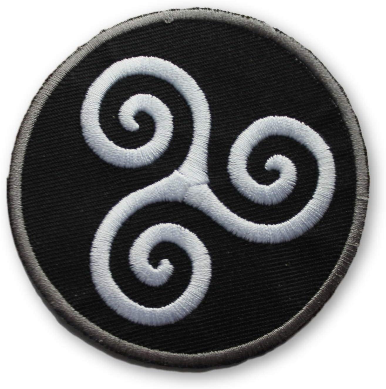 Tiss/écoud/ /Escudo Celta Triskell Breta/ña Cruz Celta Breizh Patch Bordado