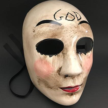 La máscara de purga Anarchy purga Cruz máscara horror purga Hombres enmascarados Halloween disfraz fiesta