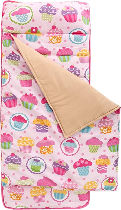 Whale Travel Sleeping Bag HESEAM for Kids Nap Mat,Sleeping Cotton Mat with Removable Pillow Daycare Carry Handle with Straps Closure 3-7 Years Rollup Design Soft Microfiber for Preschool