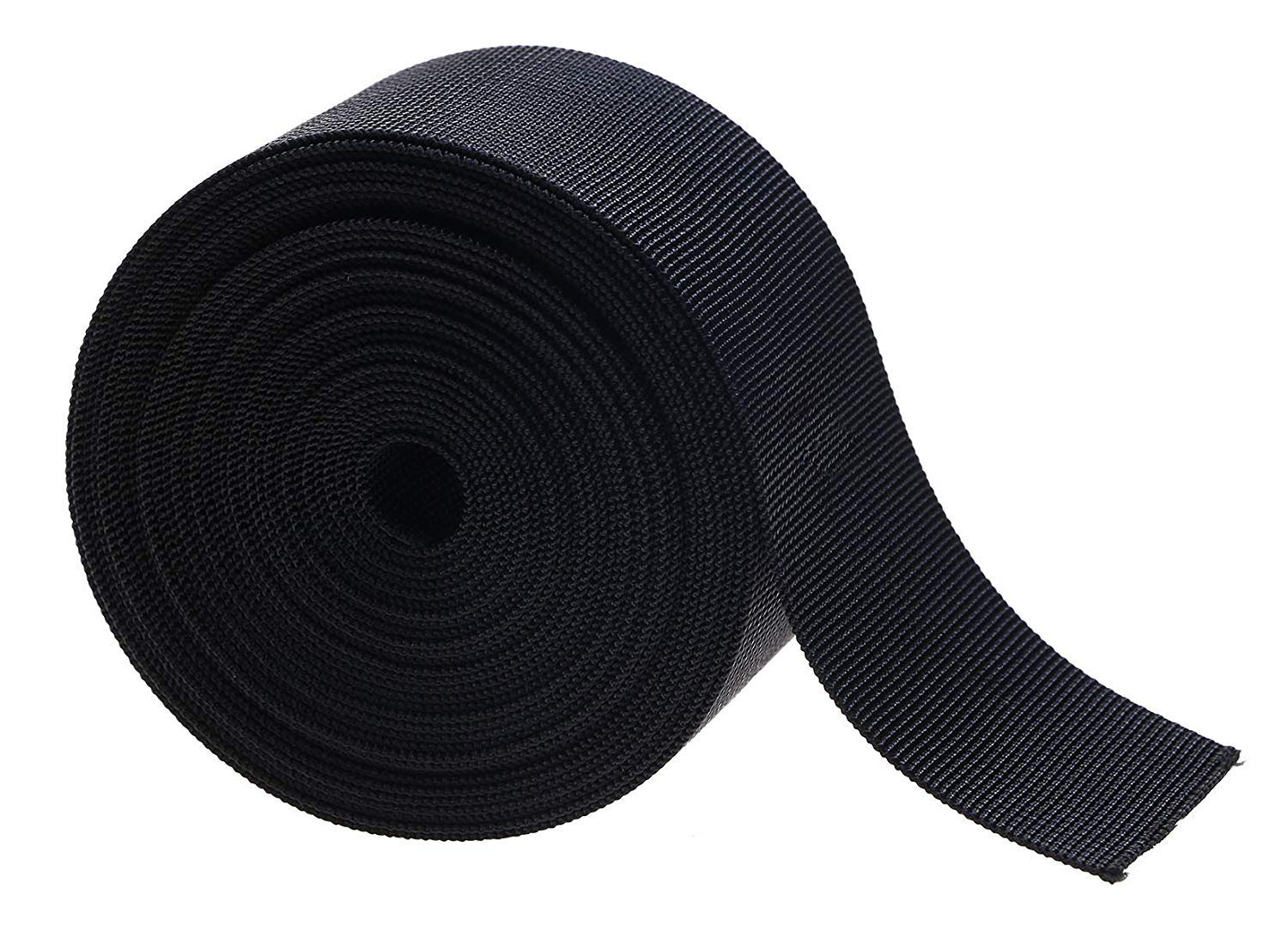 2 inch Webbing Fasteners Nylon Webbing Straps Sling for Belts Buckles Bags Lawn Chair Hammocks Towing DIY Making Luggage Strap Backpack Repairing Dog Leashes Pet Collar 10Yards (2 inch, Black)