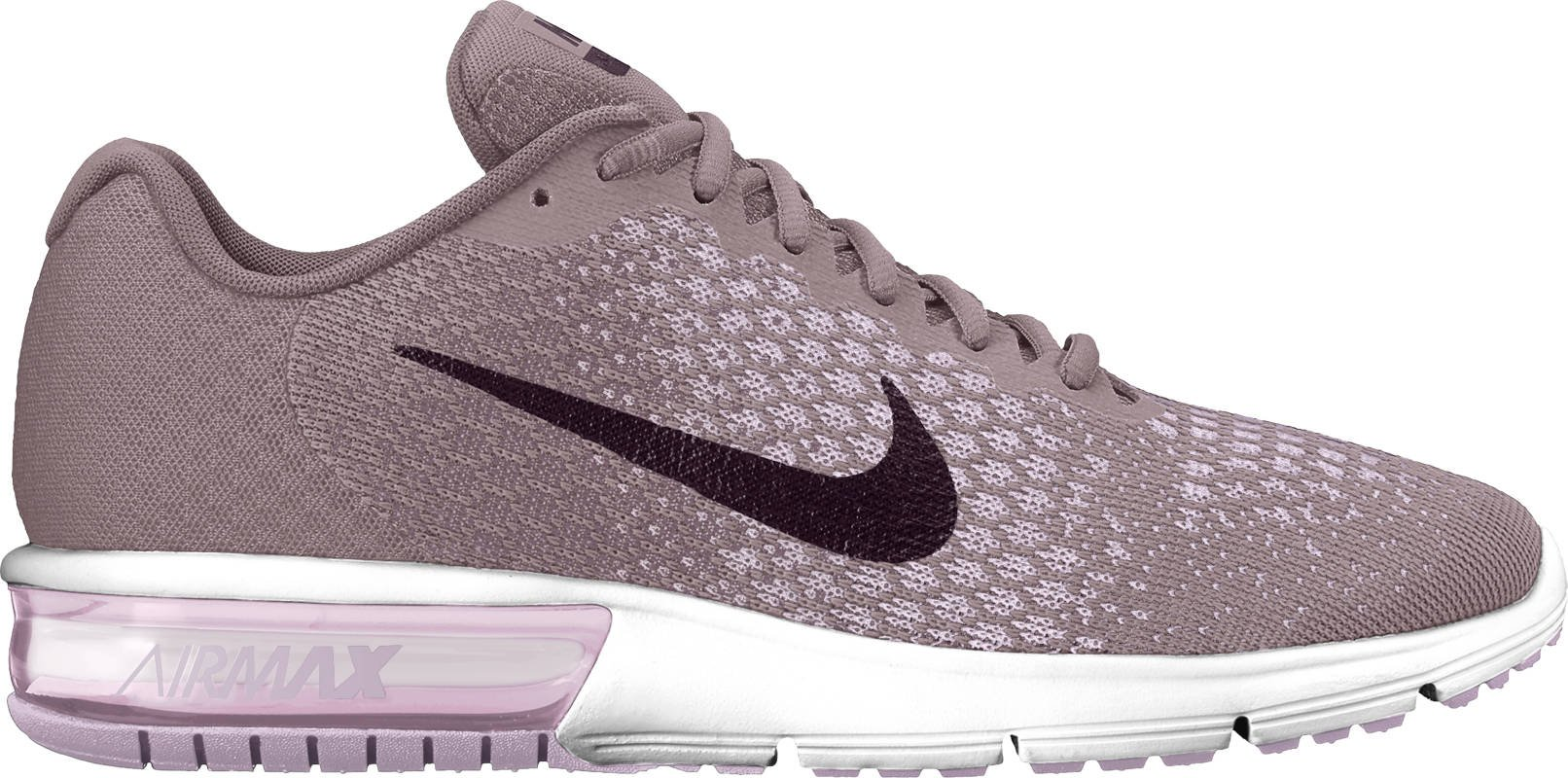 Nike Air Max Sequent 2 Size 7.5 Womens Running Taupe GreyPort Wine Plum Fog Iced Lilac Shoes