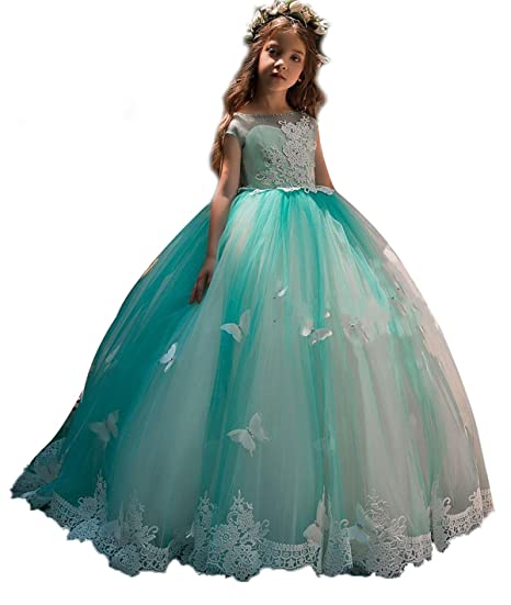 Christmas Beauty Pageant Outfits.Amazon Com Ksdn Butterfly Princess Pageant Gown Hollow Lace