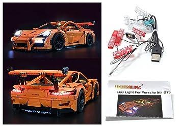 LED Light Up Kit Para lego Porsche 911 GT3 RS Modelos 42056 y 20001 kit de