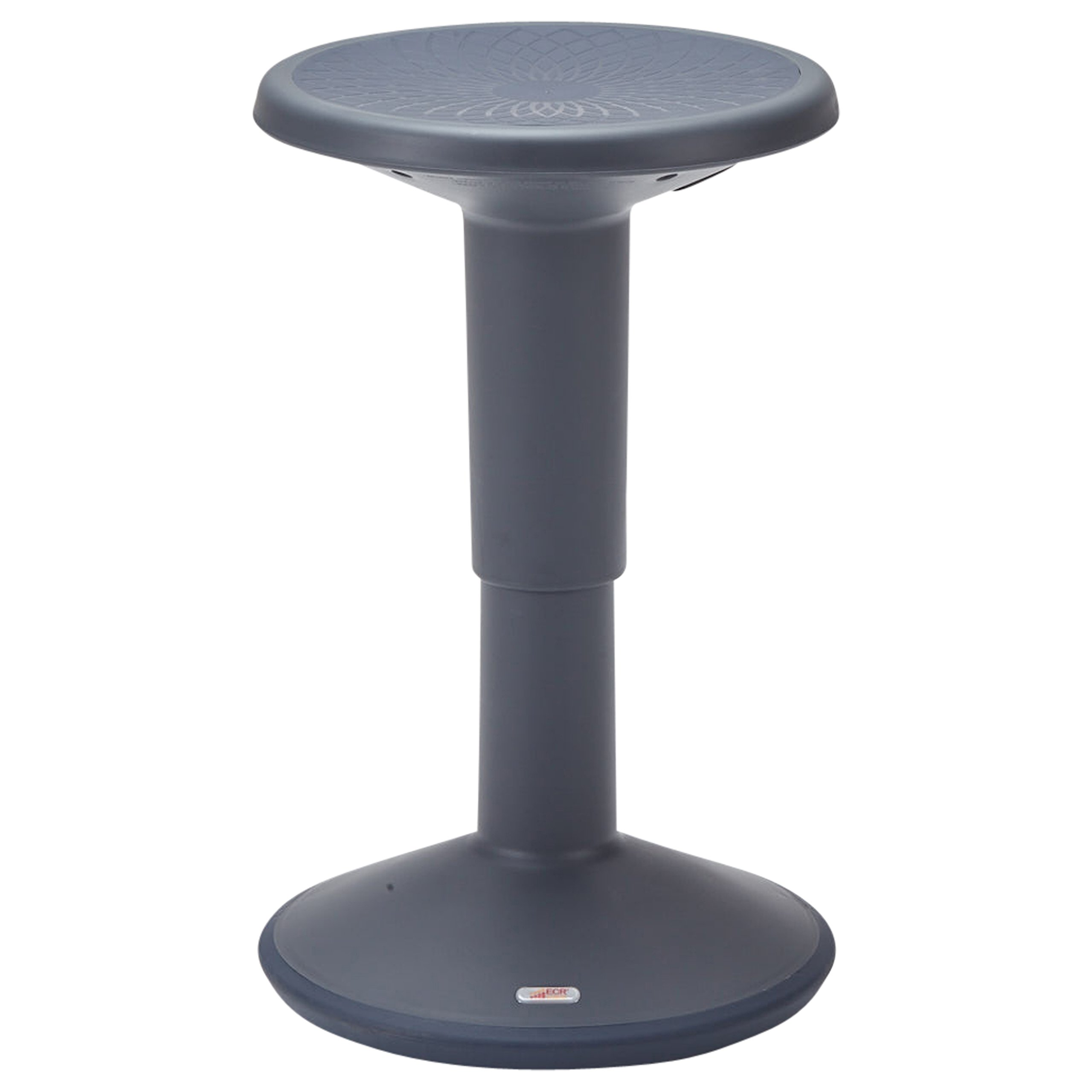 ECR4Kids SitWell Height-Adjustable Wobble Stool - Active Flexible Seating Chair for Kids and Adults - School and Office, Grey