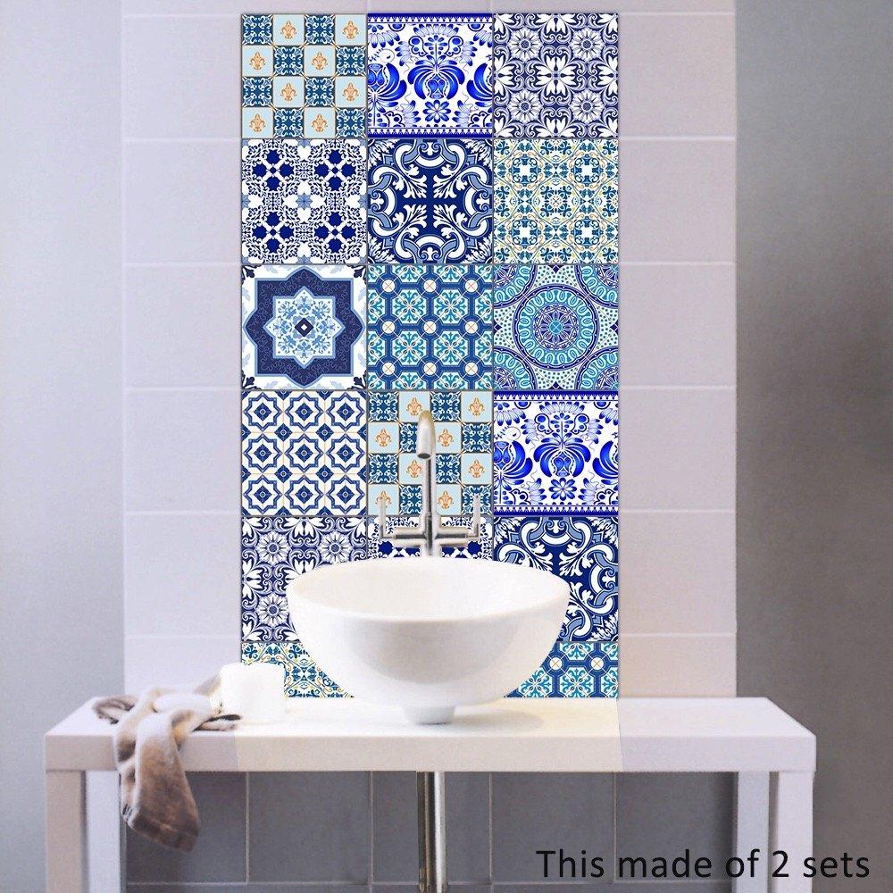 Amazon.com: Self Adhesive Tile Stickers - 10pcs- Traditional ...